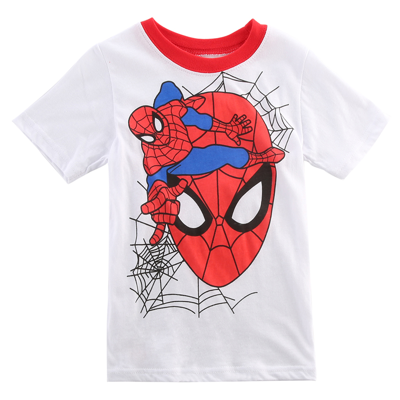 New-2016-Boy-Superman-T-Shirt-clothes-O-neck-short-sleeve-t-shirts-for-couples-Cotton-tees-1