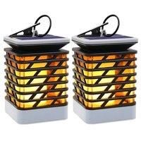 Solar Outdoor Lighting Waterproof Flame Flickering Hanging Solar Lamp Garden Security Lamp Outdoor Street Night Light