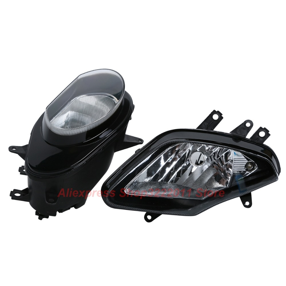 Clear Lens Motorcycle Plastic Front Light Lamp Case For BMW S1000RR 2009 2010 2011 2012 2013 2014 Headlight Housing Set black motorcycle rear passenger seat back pad c133 case for bmw s1000rr 2009 2010 2011 2012 2013 2014 2015