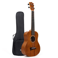 Solid Tenor Ukulele Solid Mahogany Ukelele Uke 26 inch 4 String Hawaii Guitar Rosewood Bridge with Gig Bag