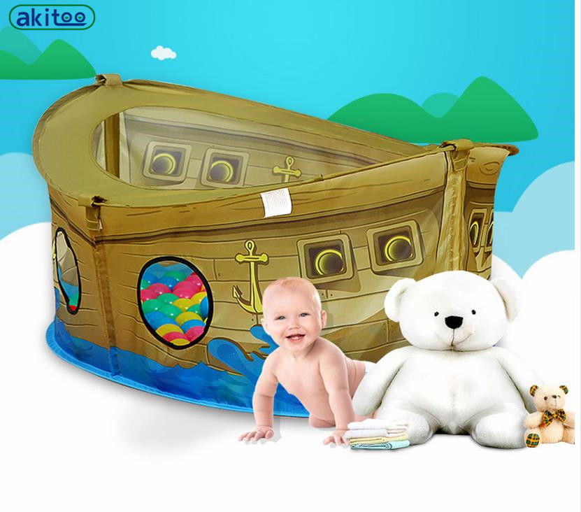 Online get cheap pool pirate ship for Baby garden pool