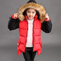2016 Girl Winter Jackets Coat With Hooded Down Coat Outerwear Casual Children Winter Coat Zipper Kids Outerwear Coat Jacket
