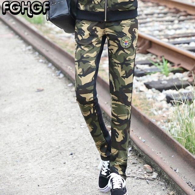 cdac82a7f3678 Casual Women's Pants Summer Plus Size Jogger Pants Military Camouflage  style Women Pants Slim Fit Female Cotton Elegant 2805