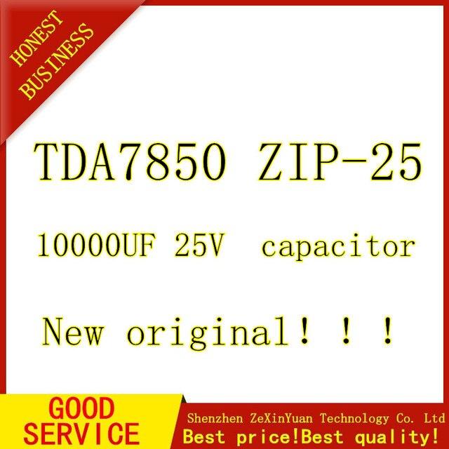 Special Price Car amplifier module TDA7850 TDA 7850 zip25 + 1 pcs 10000UF 25V capacitor + one bag thermal grease =A SET New ORIGINAL