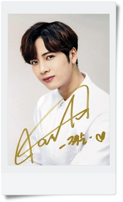 signed GOT7 Jackson autographed photo 6 inches free shipping  09201702 got7 got 7 youngjae kim yugyeom autographed signed photo flight log arrival 6 inches new korean freeshipping 03 2017