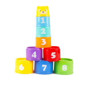 Image 4 - 8PCS Educational Baby Toys 6Month+ Figures Letters Foldind Stack Cup Tower Children Early Intelligence