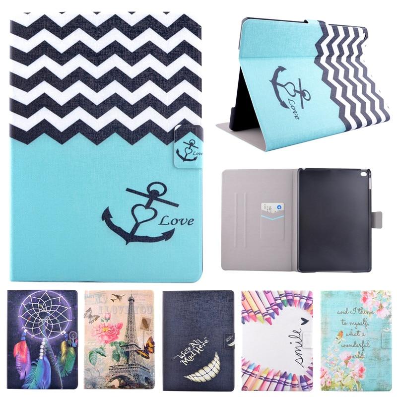 Fashion Cartoon Case For iPad Mini 1 2 3 Flower Flip PU Leather Cover Funda For Apple Ipad Mini Mini2 Mini3 Tablet Stand Cover