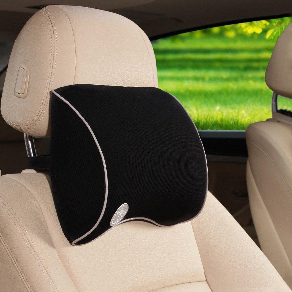 Universal Use 4 Colors Natrual Memory Foam Headrest Car Headrest Supplies Neck Auto Safety Headrest Seat Supports