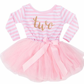 Winter Baby Girl Baptism Dress Clothes For Newborn Infant 1 2 3 Year Birthday Party Dress Gift Long Sleeve Striped Baby Dresses