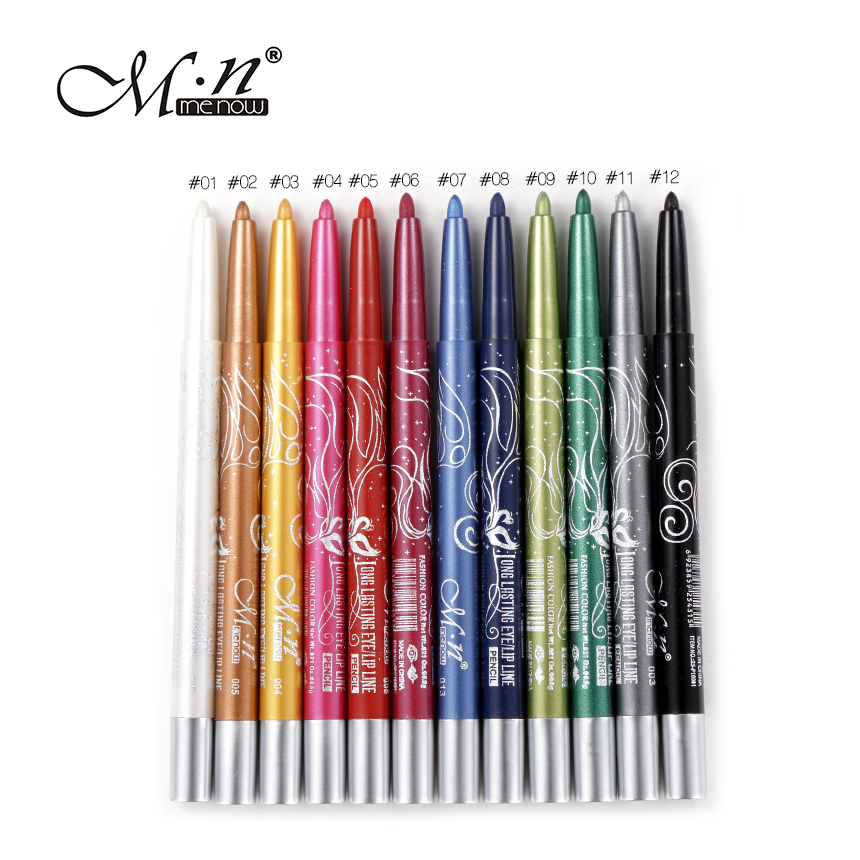 Menow 12/lot Professional Waterproof Cosmetic Eye/Lip Liner Lipliner Pen Pencil Makeup Multi-Colors Long Lasting Makeup Tools 12pcs fashion waterproof long lasting smooth lip liner pencil