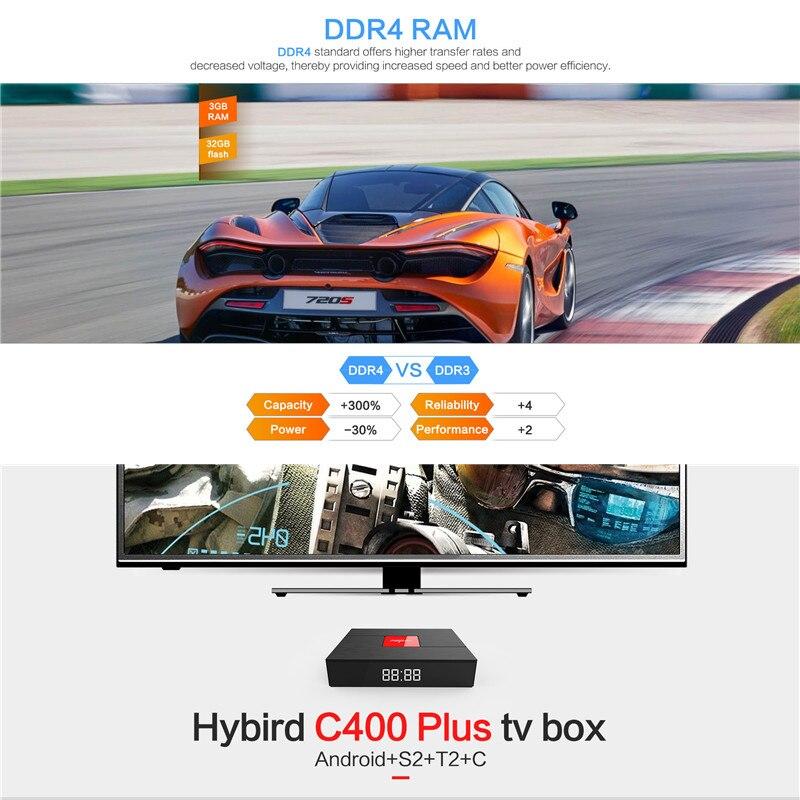 Magicsee C400 Plus Android TV Box 4K Amlogic S912 Octa Core 3GB Ram 32GB  Rom Smart TV Box Dual WiFi BT4 1 DVB-S2 HD Media Player