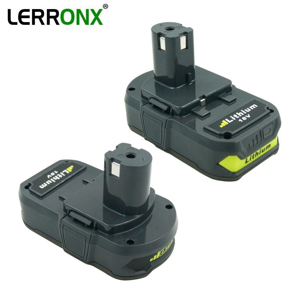 2 pièces RB18L25 18 V 2500 mAh rechargeable Au Lithium batterie Pack pour Ryobi Outil BPL1815 BPL1820 remplacer pour P102 P103 P107 P108 P105