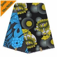Guaranteed Veritable Dutch Real Wax Hollandais Wax African Printed Fabric For Black Color Ankara Sewing Fabric