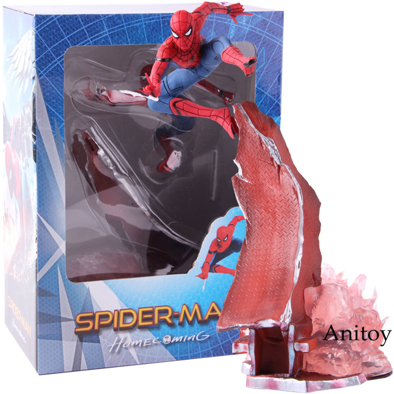Marvel Spider-Man Homecoming Spiderman 1/10 Scale PVC Spider Man Statue Figure Collectible Model ToyMarvel Spider-Man Homecoming Spiderman 1/10 Scale PVC Spider Man Statue Figure Collectible Model Toy