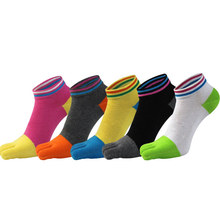 New kawaii cotton five fingers socks women hot selling fashion high-quality toe casual breathable sock 5 pairs
