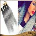 2016 горячие 4 шт. установить полный головы реми человеческих волос выдвижении 100% реальные лучших бразильских виргинских волосы прямые длинные волосы девственницы расслоение