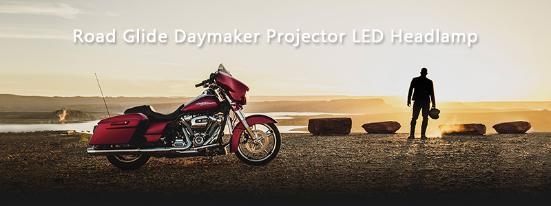 5.75 inch LED Motorcycle Headlight 5-34 Daymaker Projector Dual LED Headlight for Harley Davidson Road Glide 2004-2013 (14)