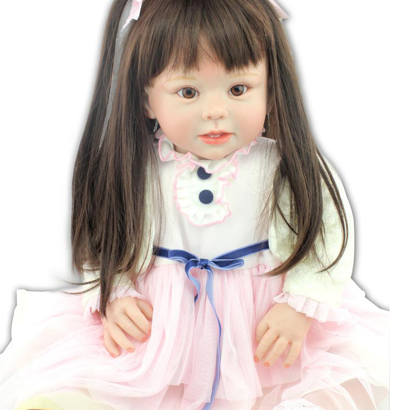 Newest 70cm Silicone Reborn Baby Dolls Accompany Reborn Baby Girl High-grade Christmas Gift Brinquedos For Kids Doll Reborn about 70cm silicone reborn baby dolls accompany sleep reborn baby fashionable christmas gift brinquedos for children kids