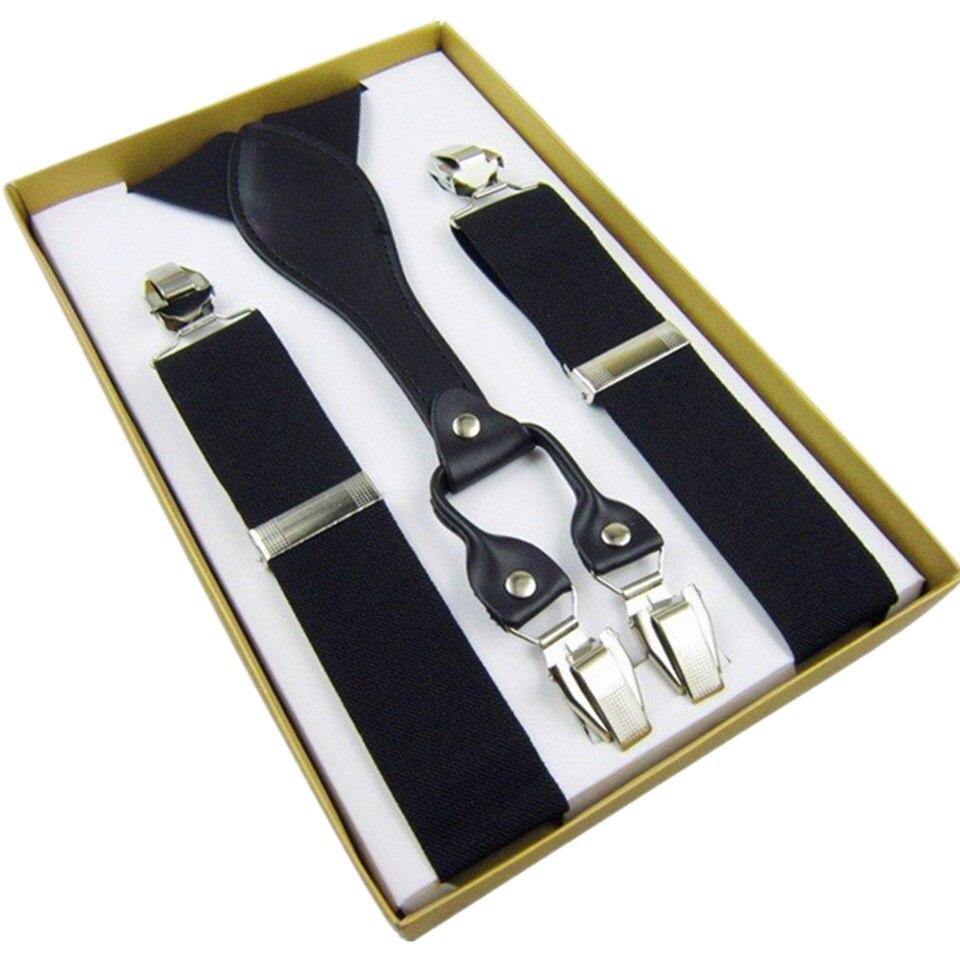 Mens Suspenders Leather Button End Elastic Tuxedo Y Back Suspenders Pant Braces for Men tirantes hombre para pantalones in Men 39 s Suspenders from Apparel Accessories