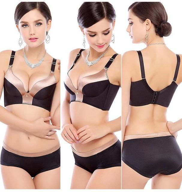 Mulheres bra seamless underwear2016 mulheres sutiã sexy conjunto de sutiã e calcinha set