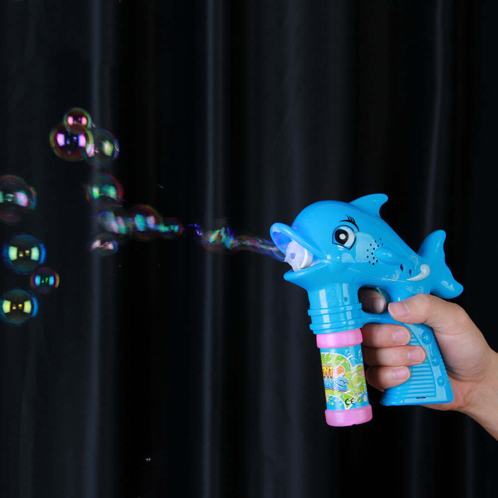 Do dower Electric Dolphin Bubble Gun with Music LED Light Blowing Bubbles ABS Plastic Water Guns for Kids Children Outdoors Toys