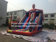 2016 new Factory direct Inflatable slide,Spider - Man Slide KY-113