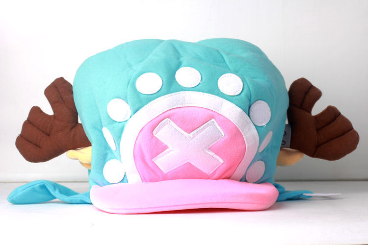 Free Shipping ONE PIECE Tony Tony Chopper Anime Cosplay Cap Pink&Blue Plush Hat Version 2