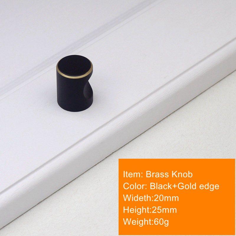 Современный латунный кухонный шкаф ручки черный ящик, комод, шкаф мебельные ручки и Pulls-1Pack - Цвет: 20x25mm
