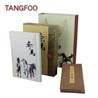 Творческий китайский личность подарок Сюй Beihong Верховая езда Шелковый Ясно марки книга коллекцию шелковых альбом Культурный марки подарок