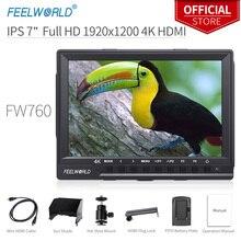 Feelworld 7 inch IPS 4 k Full HD 1920x1200 HDMI On Lĩnh Vực Máy Ảnh Màn Hình với Đỉnh Tập Trung hỗ trợ Biểu Đồ Ngựa Vằn FW760