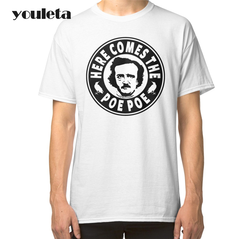 2018 Edgar Allan Poe T Shirt Men 2017 Summer Casual Short Sleeve White Plus Size High Quality Comfortable T ...