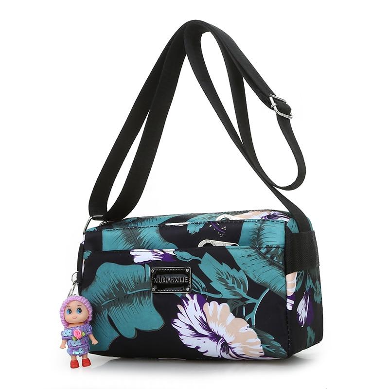 Floral Messenger Bag Cute Oxford Rural style Shoulder Lightweight More Zippers Crossbody Women Fashion Leisure Flap