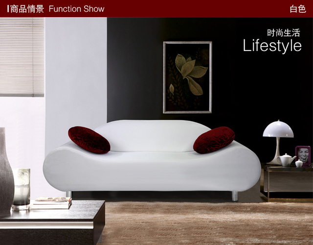Modern living room  lounge sofa  with genuine leather  A01