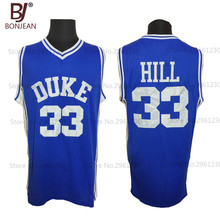 2017 BONJEAN Mens Duke University Blue Devils Basketball Jerseys 33 Grant Hill Jersey Two Color Stitched
