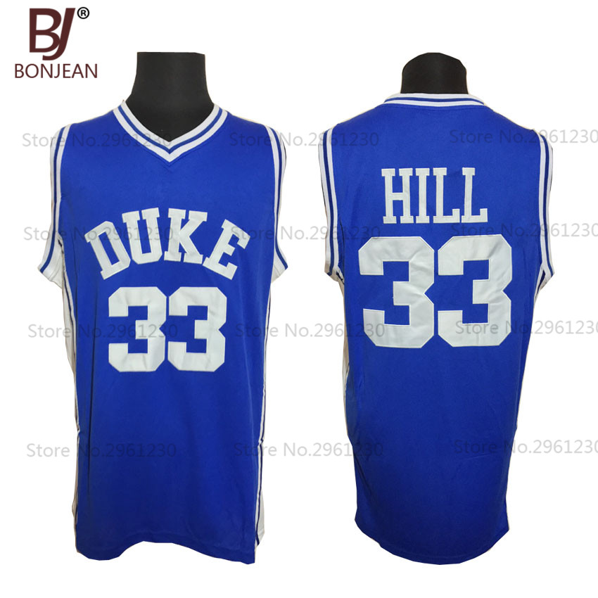 2017 BONJEAN font b Mens b font Duke University Blue Devils Basketball Jerseys 33 Grant Hill