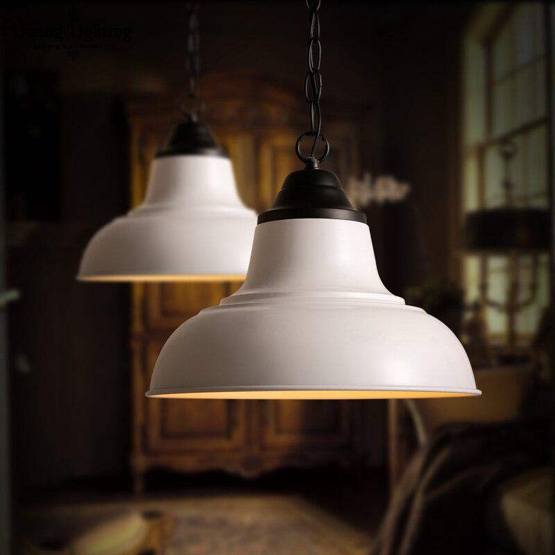 Винтаж промышленного ветер белый Железный люстра абажур лампы личность Ресторан Бар Кафе гостиной люстра