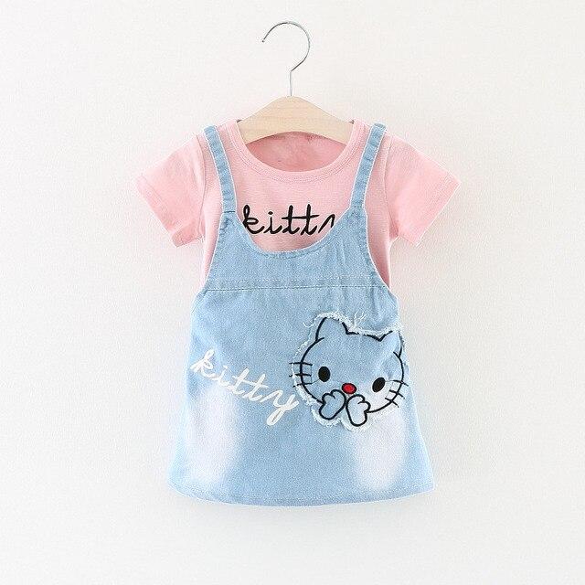 Baby Girl Summer Dress 2017 Fashion Casual Kids Girl Printed Cartoon