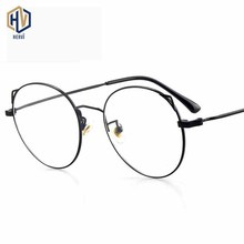 2020 Fashion Round Men Optics Glasses Frame Women Cat Eyes Metal Big Spectacles Frames Prescription Eyeglasses