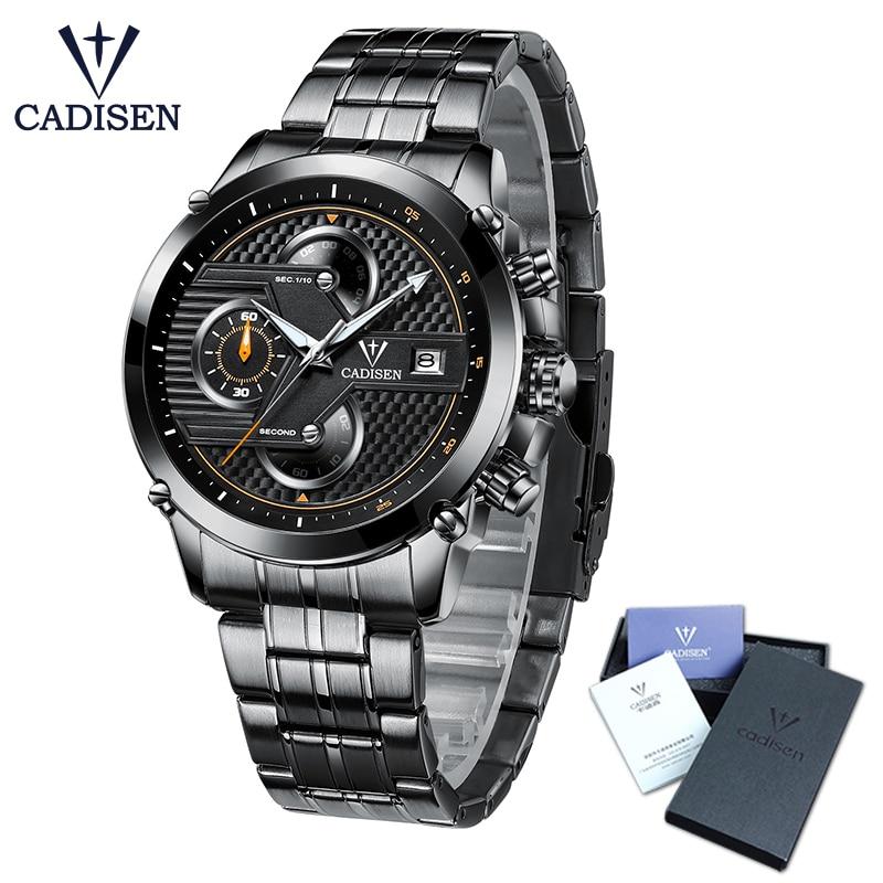 CADISEN Men's Watch Luxury Brand Men's Waterproof Watch Men's Quartz Watch Wristwatches Men's Watch erkek kol saati luxury aluminum watch