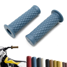 1 Pair Motorcycle Handlebars Motorcycle Custom Gel Aluminum Hand Grips 7/8 inch 22mm Moto Grips free shipping