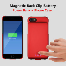 5000mAh External Battery Charger Cases For iPhone 8 7 6 6S P
