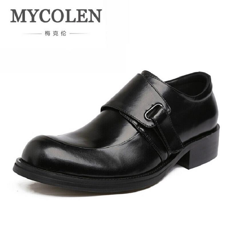 MYCOLEN Italian Fashion Mens Dress Shoes Genuine Leather Wedding Male Shoes Business Luxury Product Chaussures Hommes En Cuir 2017 new fashion italian designer formal mens dress shoes embossed leather luxury wedding shoes men loafers office for male