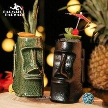 1 Piece 650ml Hawaii Tiki Mugs Cocktail Cup Beer Beverage Mug Wine Ceramic Ku.Ku.Kauioo