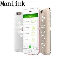 Manlink Power Bank 3500 мАч портативное зарядное устройство DIY пользовательских LED форма Чехол для iPhone 6 6S 7 7 s