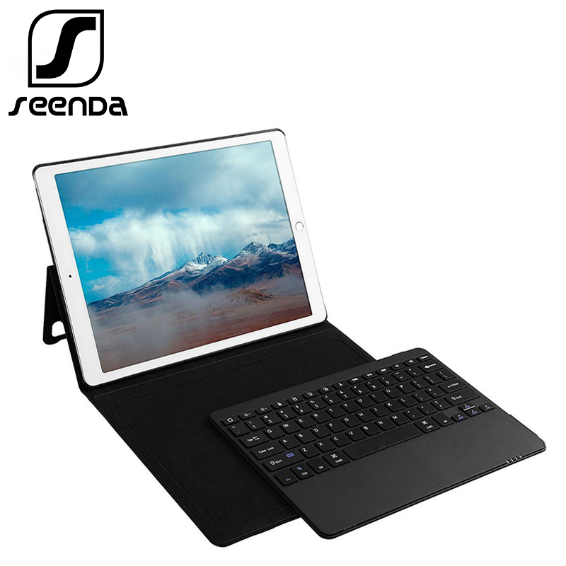 For Apple iPad pro 12.9 Leather Case With Keyboard Tablet Ultra-Thin 3.0 Bluetooth Keyboard Stand Case / Cover + Pencil Holder ultra thin wireless bluetooth keyboard case for apple ipad pro 12 9 inch tablet cover w built in stand solt us keyboard layout