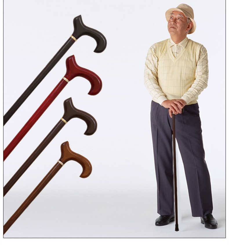 The old wood wood cane cane genuine high-grade quality for the elderly is the leading cane alpenstock