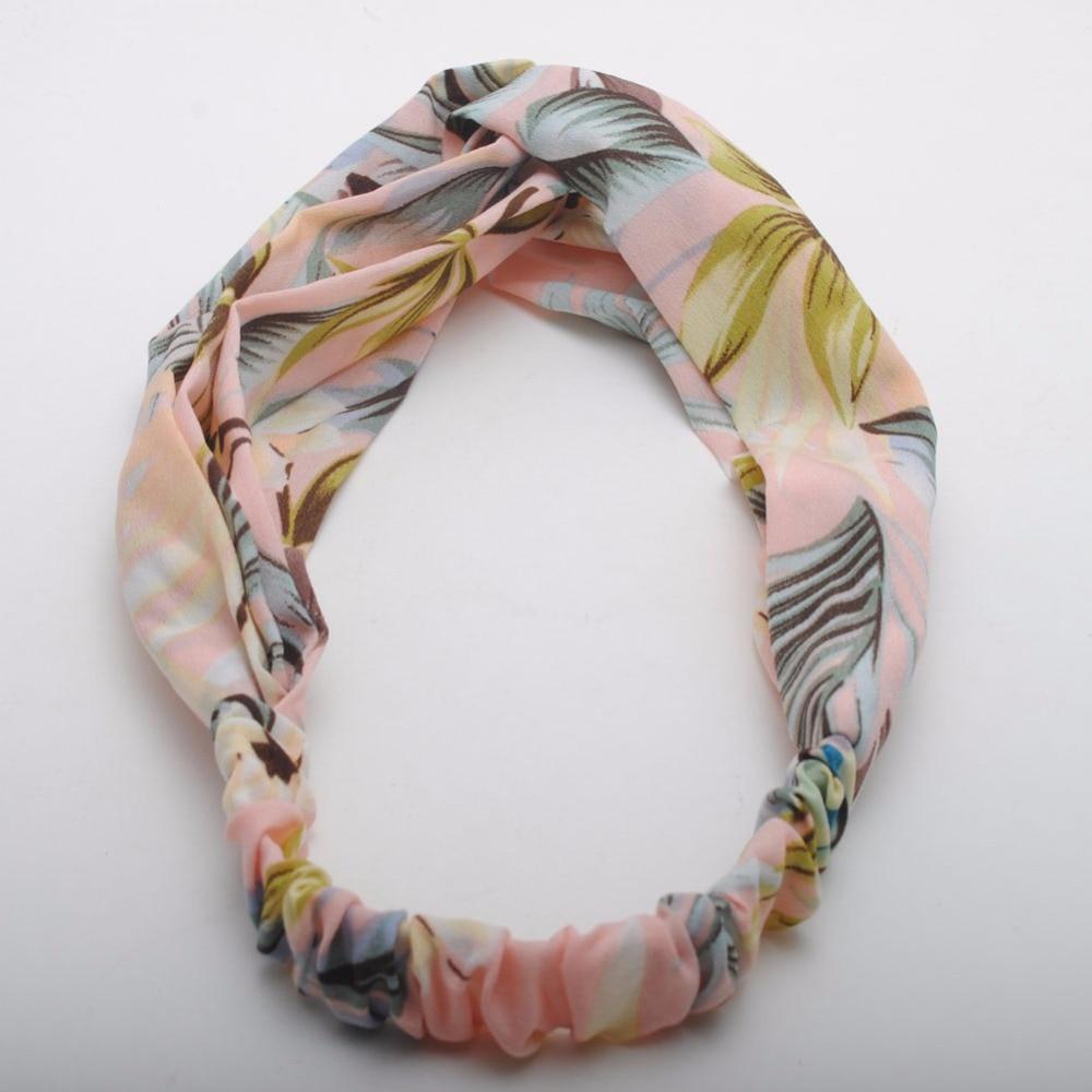 New Korean Design Women Elastic Headbands Ladies Flower Print  Hair Bands  High Quality Bandanas Hair Accessories Gift