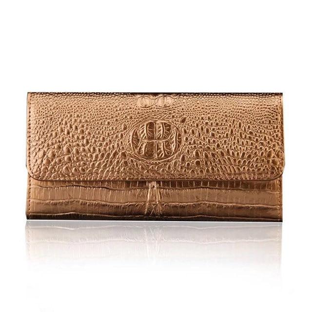 7b08692ef Nueva alta capacidad moda larga Mujer monedero nuevo diseñador femenino  embrague monedero monederos de cuero titular