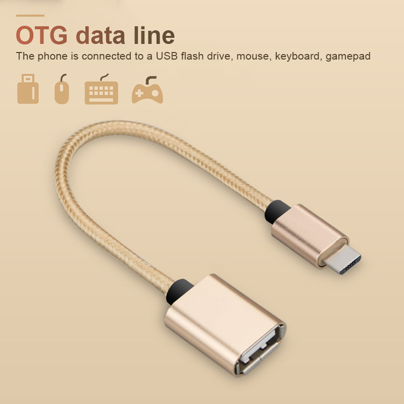 USB Type C To USB OTG Cable Adapte For Xiaomi Mi 5X Mi Max 2 Mi 6/Mi 5C Huawei P20 Pro OTG Type-c Charger Data Cable USB C Cable