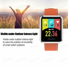 Reflective 24Hours Constant Display Visiable Under Outdoor Intense Light IP67 Waterproof Heartbeat Monitor Healthy Smart Watch туфли 24hours